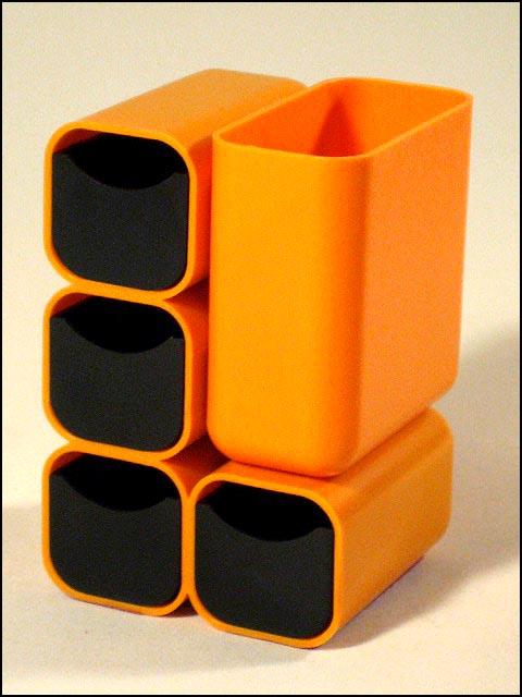 70er jahre schreibtisch utensilo orange mit schubladen for Schreibtisch utensilo