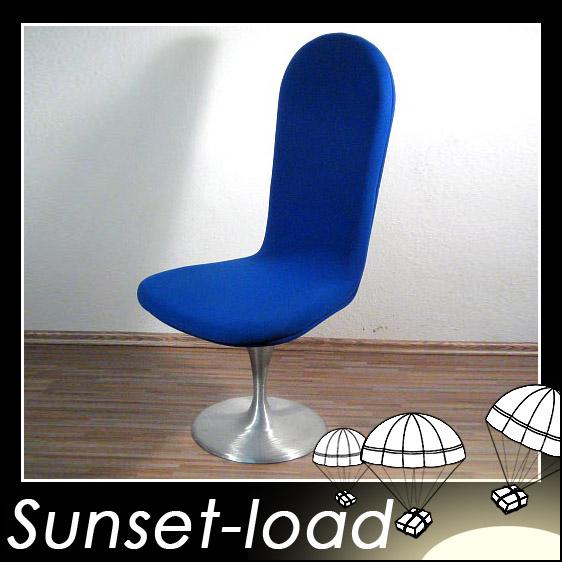 60s 70s space age blauer trompetenfu stuhl sessel 1 ebay. Black Bedroom Furniture Sets. Home Design Ideas
