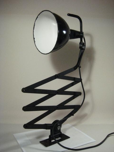 30er jahre scheren wandlampe metall emaliert for Lampen 90er jahre