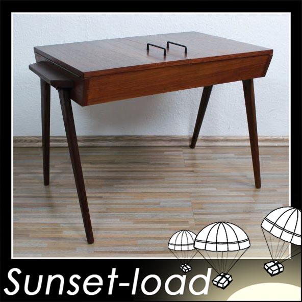 teakholz tisch n hk stchen n htisch 50er 60er jahre ilse m bel ebay. Black Bedroom Furniture Sets. Home Design Ideas