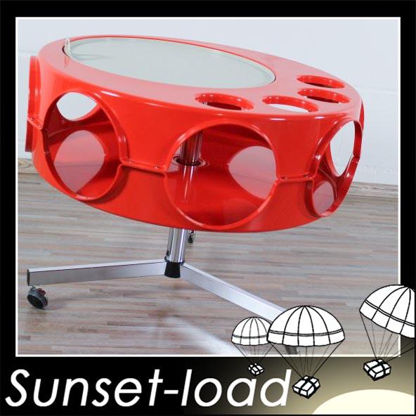 ufo barwagen 60er 70er jahre plastik und chrom alter space age tisch ebay. Black Bedroom Furniture Sets. Home Design Ideas
