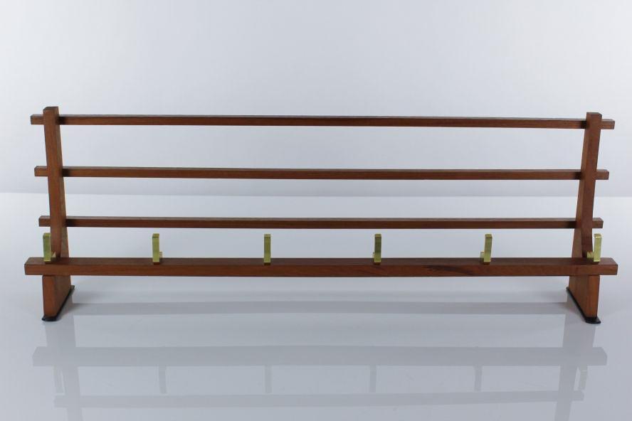 alte garderobe teakholz 50er 60er jahre vintage. Black Bedroom Furniture Sets. Home Design Ideas