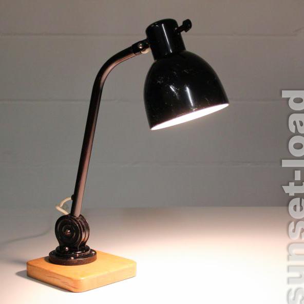 vieille hala travail lampe de bureau lampe bauhaus style 30er 50er ans ebay. Black Bedroom Furniture Sets. Home Design Ideas