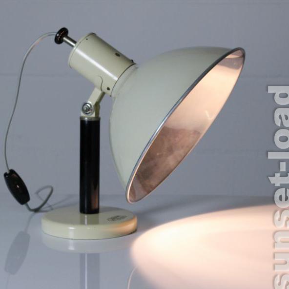 ancienne lampe de chevet osram vitalux lampe lumi re rouge conception industrielle 50er ans ebay. Black Bedroom Furniture Sets. Home Design Ideas
