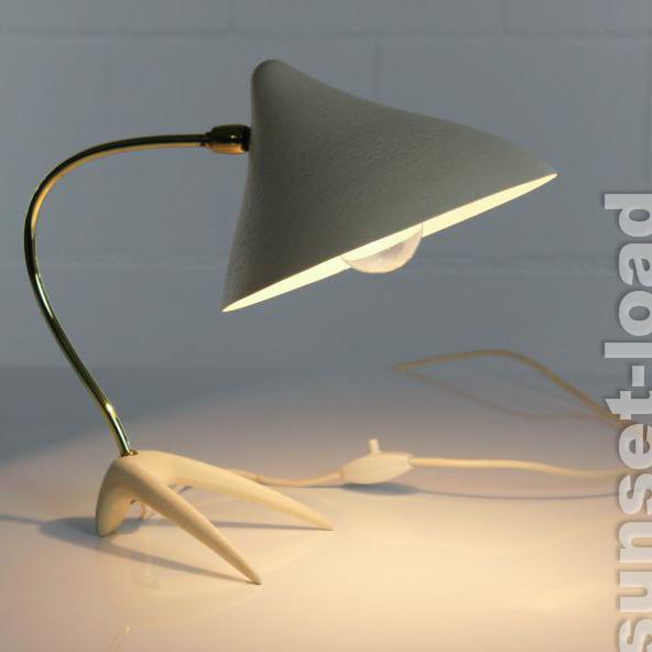 louis kalff kr henfu tisch lampe 50er jahre alte vintage. Black Bedroom Furniture Sets. Home Design Ideas