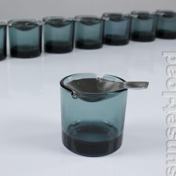 WMF-Kipp-Ascher-Wilhelm-Wagenfeld-Turmalin-Glas-MULTIANGEBOT-50er-Jahre-A-Becher