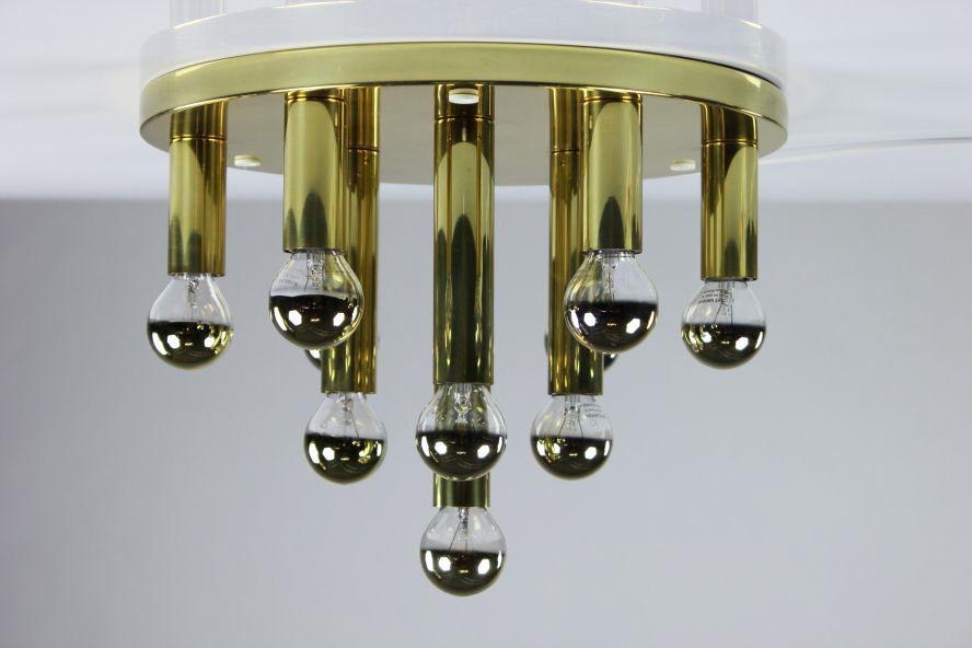 alte decken lampe l ster 10 flammig 60er 70er jahre lampe. Black Bedroom Furniture Sets. Home Design Ideas