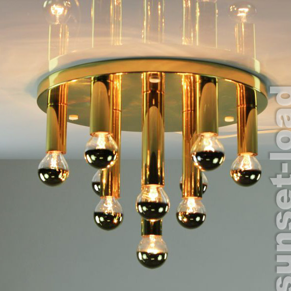 old ceiling lamp chandelier 10 flame 60er 70er years lamp. Black Bedroom Furniture Sets. Home Design Ideas
