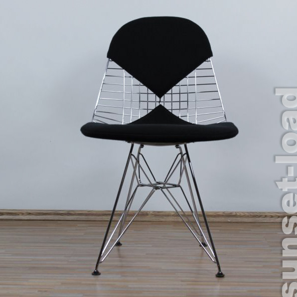 eames wire chair dkr eifel base chrom bikini schwarz vitra. Black Bedroom Furniture Sets. Home Design Ideas