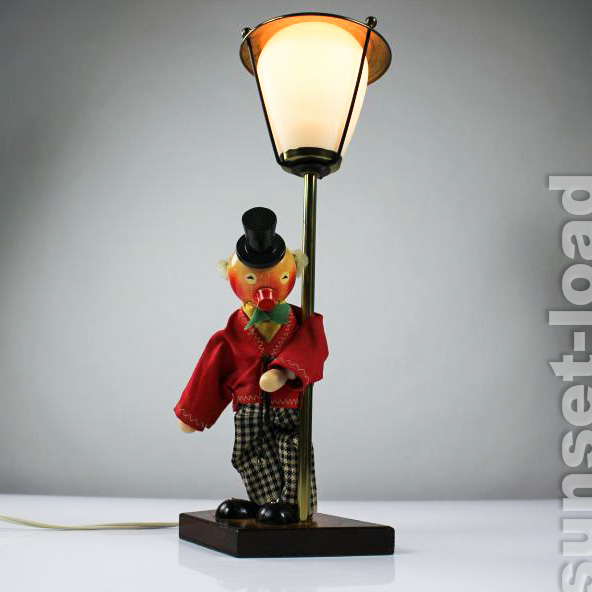 old table lamp drunken clown lantern 50er years humour theme motif lamp ebay. Black Bedroom Furniture Sets. Home Design Ideas