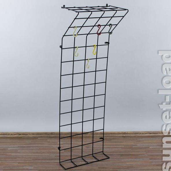 alte draht string wand garderobe schmal 40x120cm bunte. Black Bedroom Furniture Sets. Home Design Ideas