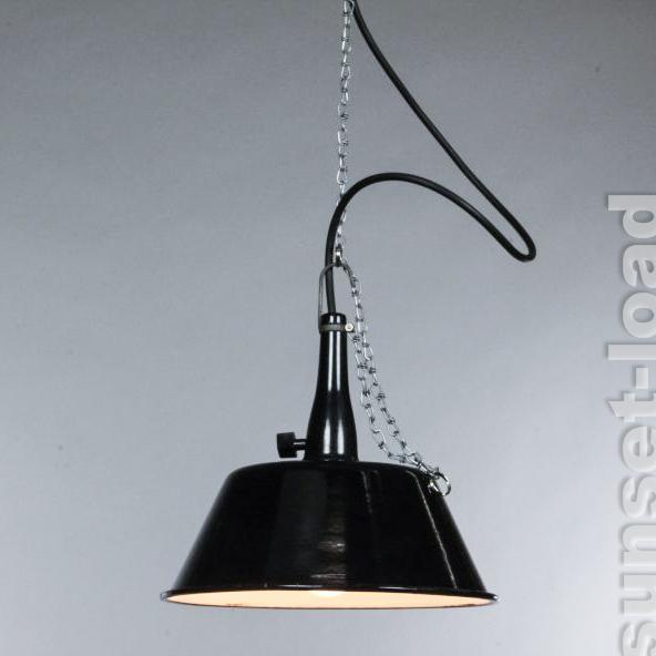 Emaille h nge lampe alte industrie design leuchte 30er for Lampen 50er design