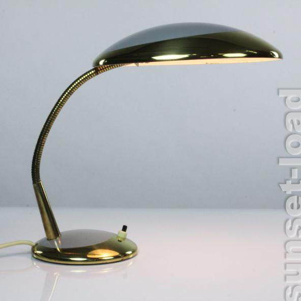 Ancienne de bureau lampe col de sygne laiton lis luminaire 50er ans vint ebay - Lampe de bureau ancienne en laiton ...