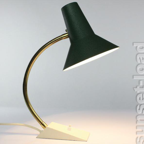 alte schreib tisch lampe sis schwanenhals 50er 60er jahre. Black Bedroom Furniture Sets. Home Design Ideas