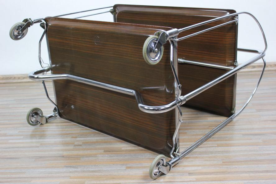 original bremshey gerlinol altes dinett beistelltisch klappbar servierwagen 70er ebay. Black Bedroom Furniture Sets. Home Design Ideas