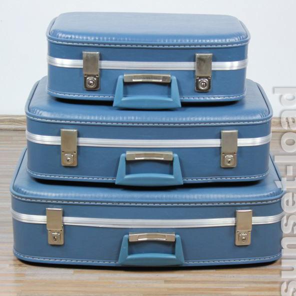 altes 3er koffer jet set reise auto beauty case pan am. Black Bedroom Furniture Sets. Home Design Ideas