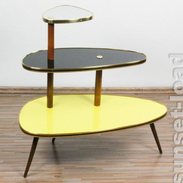 elegante blumen bank 50er jahre etagere nieren tisch display alt gro vintage ebay. Black Bedroom Furniture Sets. Home Design Ideas