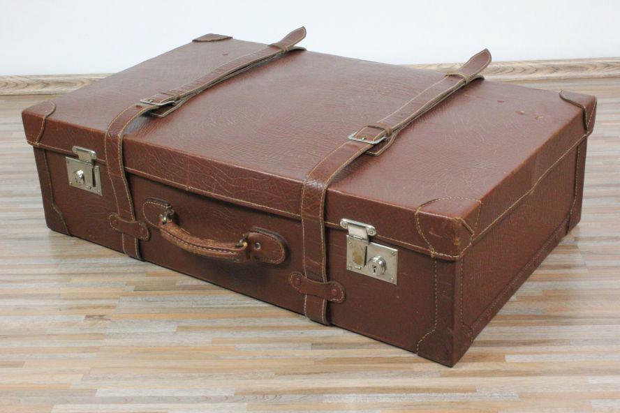 alter leder auto reise koffer oldtimer 76x47x22cm 30er. Black Bedroom Furniture Sets. Home Design Ideas