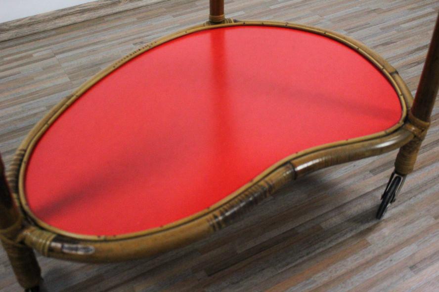 tiki servier bar wagen bambus alter nieren tisch rollen 50er jahre vintage alt. Black Bedroom Furniture Sets. Home Design Ideas