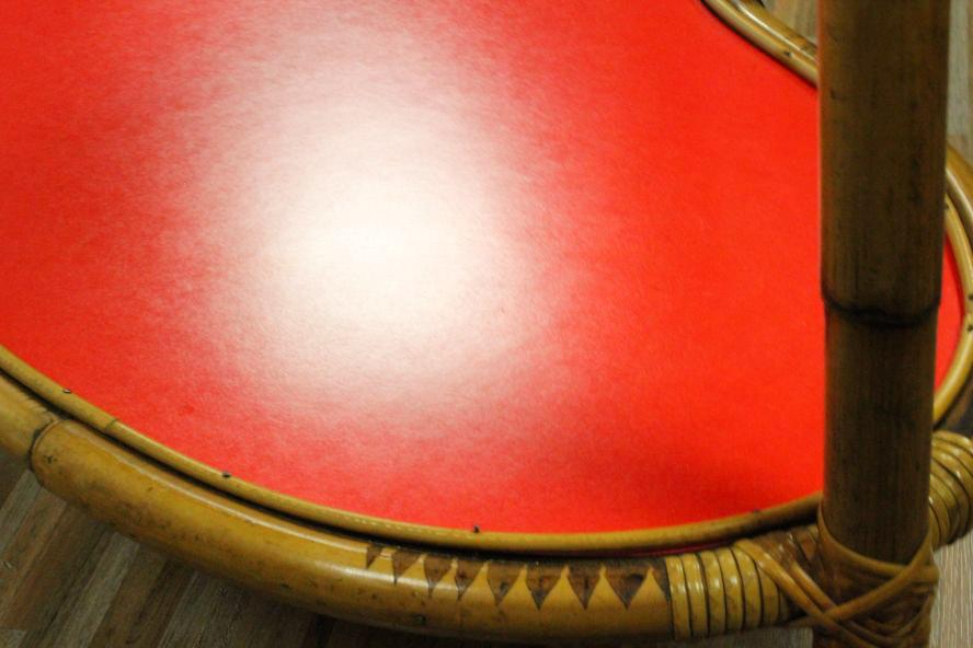tiki serving bar cart bamboo age kidney table rolls 50er. Black Bedroom Furniture Sets. Home Design Ideas