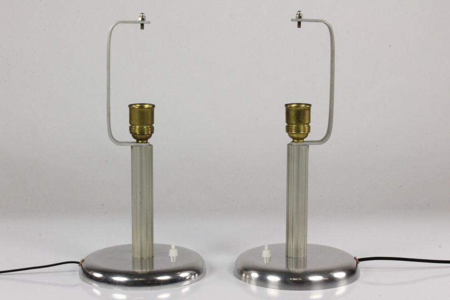 Paar alte tisch lampen art deco s ulen stil 30er 40er for Lampen 40er jahre