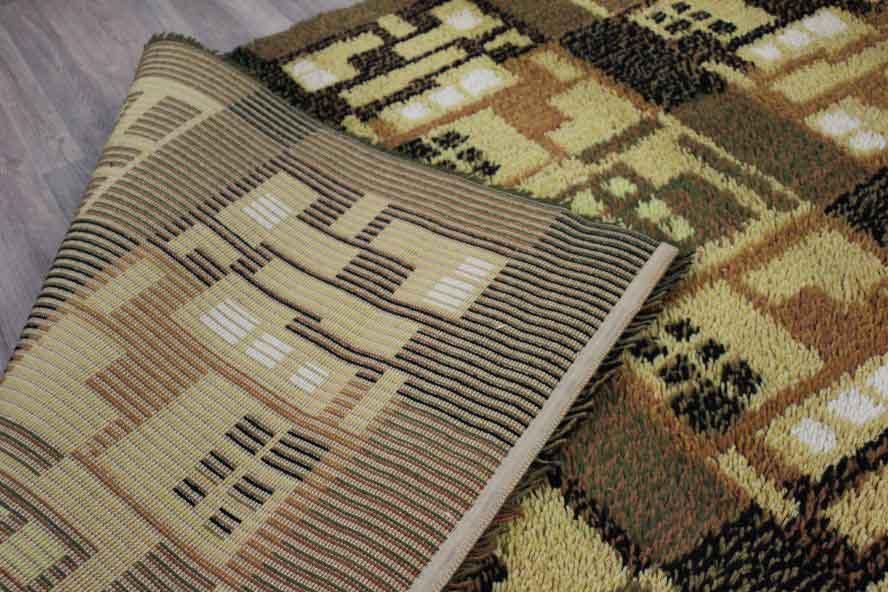 Alter Teppich Wolle Hoher Flor Vintage Carpet Wool 70ER