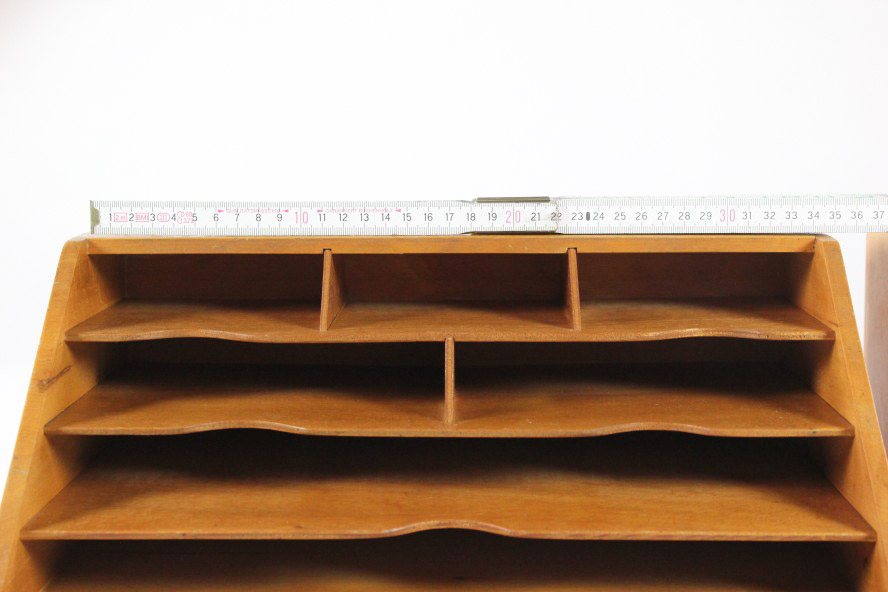 karteikarten halter brief ablage st nder holz schreibtisch utensilo 50er 60er ebay. Black Bedroom Furniture Sets. Home Design Ideas