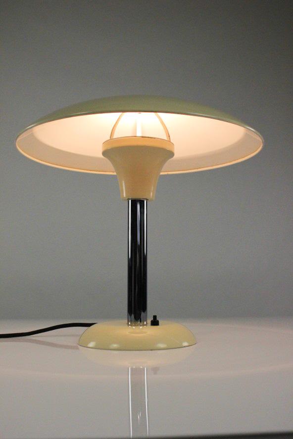 alte schr der tisch lampe kurt schumacher pilz leuchte 1934 msw vintage 30er j ebay. Black Bedroom Furniture Sets. Home Design Ideas