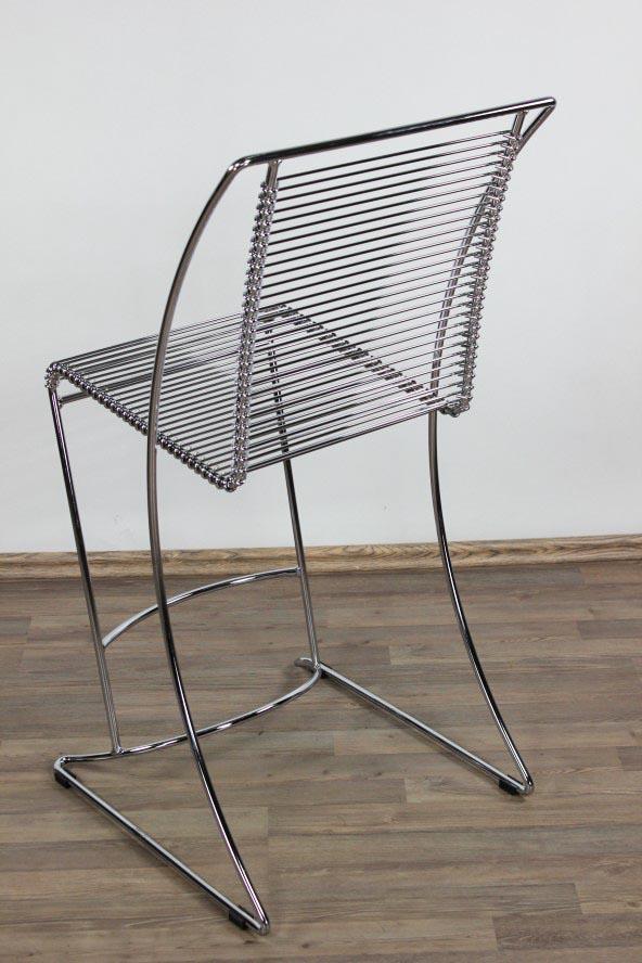 Draht chrom metall stuhl wire chair sitzh he 63cm 80er for Draht stuhl design