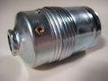 Metall-Fassung E27 Chrom Glattmantel   F 11 - 3